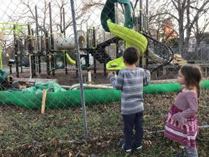 construction of new playscape