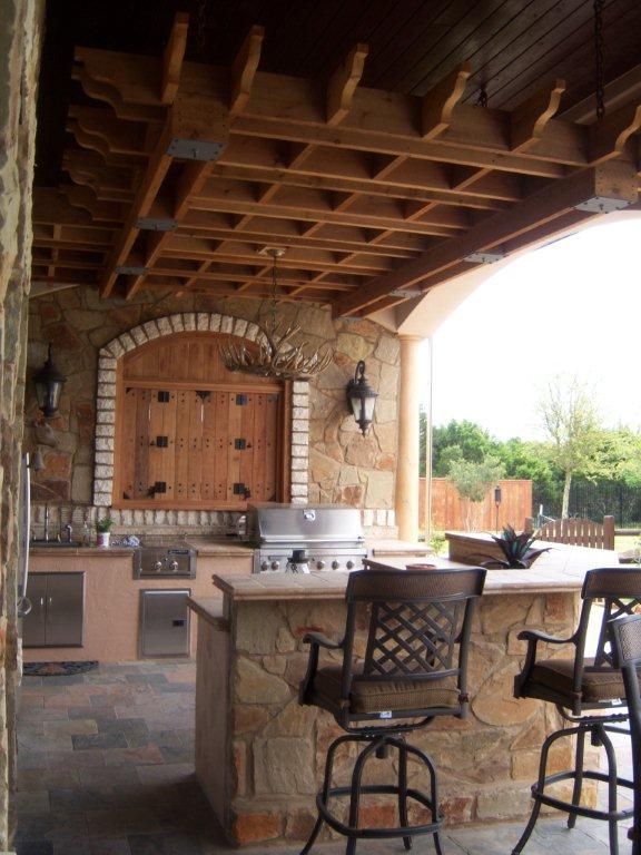 Austin Outdoor Bar Austin Decks Pergolas Covered