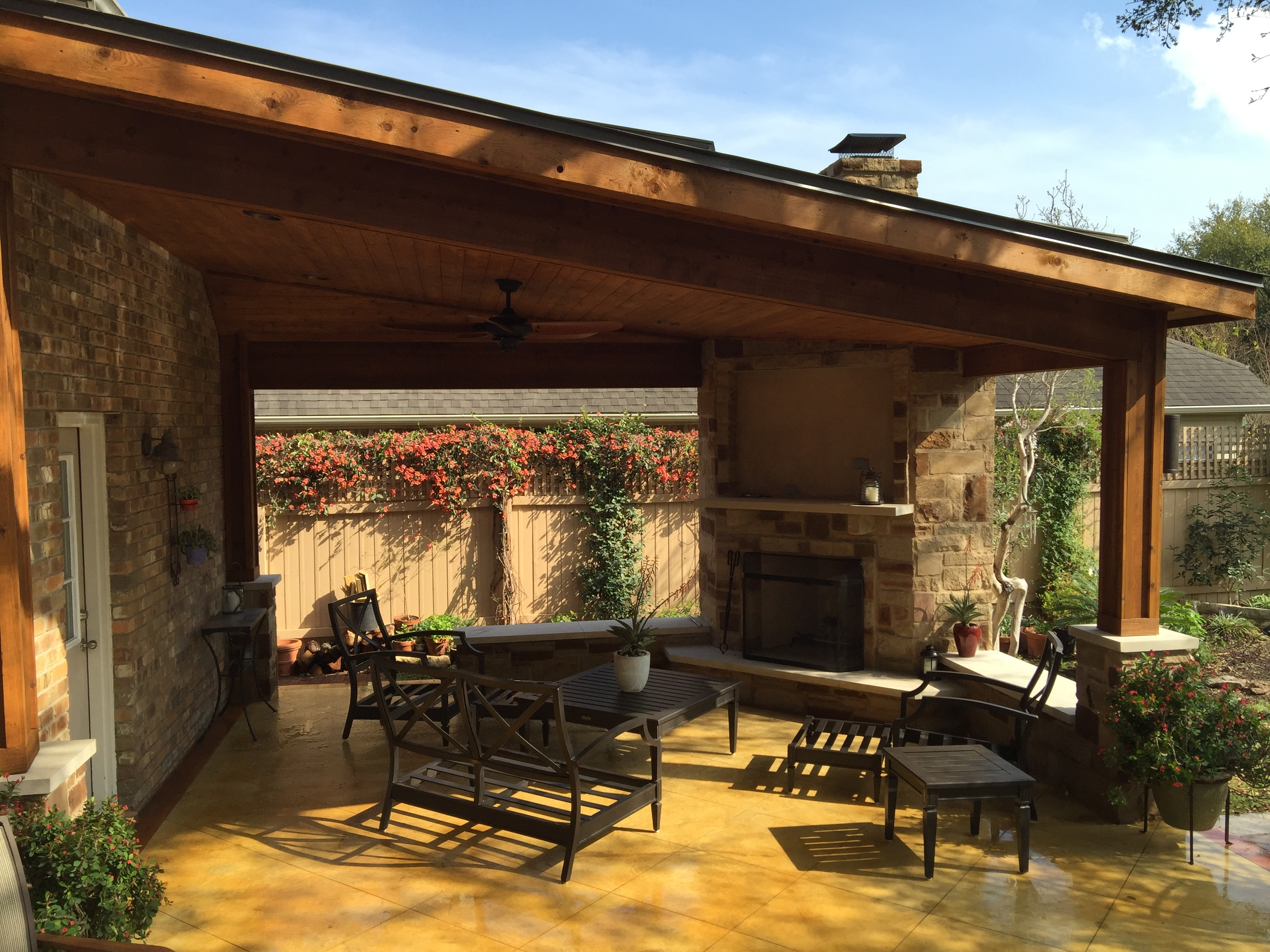 Covered Patios   Austin Decks, Pergolas, Covered Patios ... on Small Outdoor Covered Patio Ideas id=69923