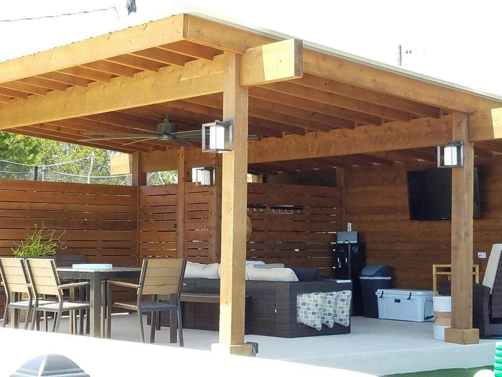 Bee Cave TX contemporary pergola   Austin Decks, Pergolas ... on Covered Pergola Ideas  id=55476