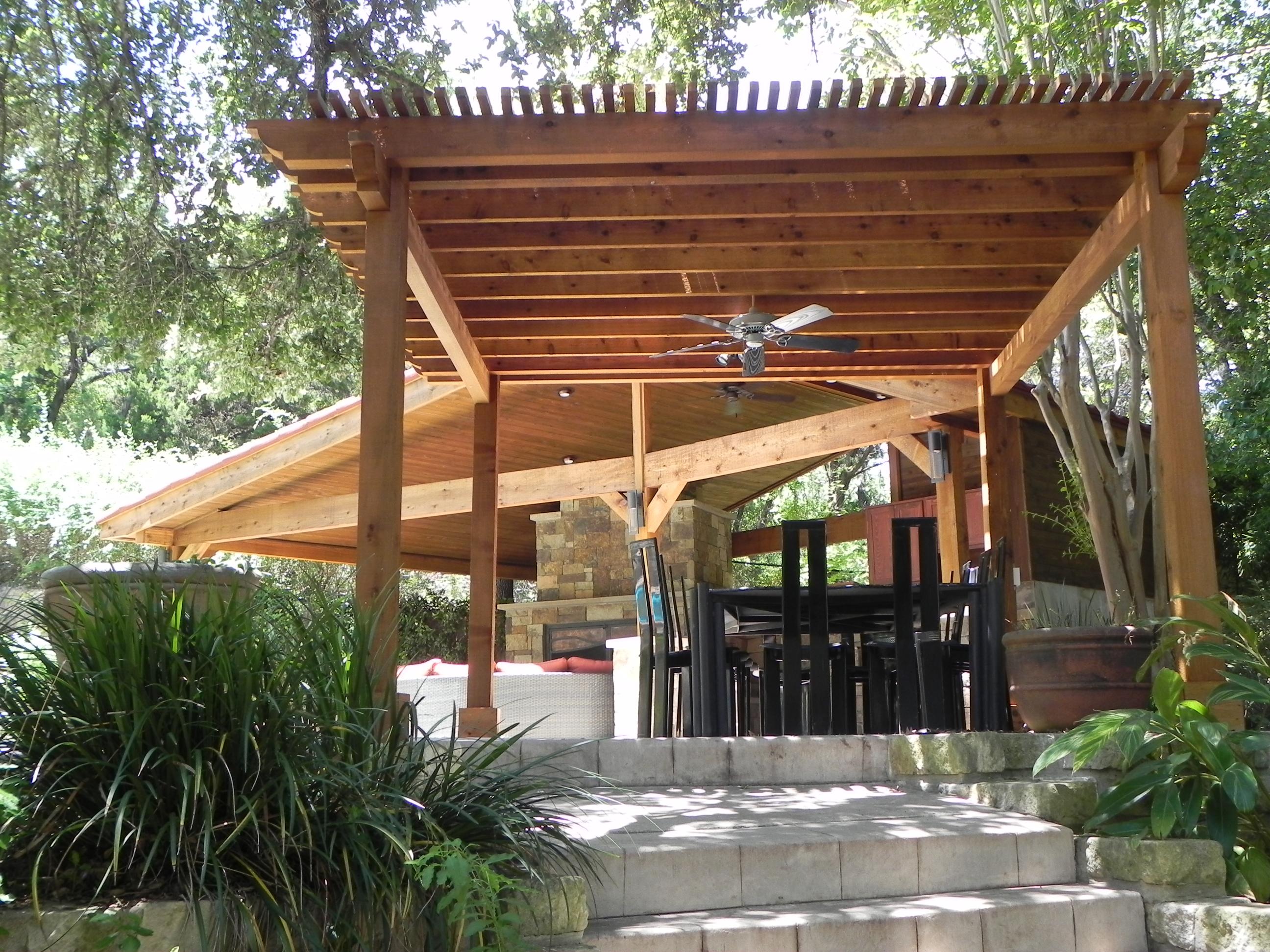 detached patio covers austin decks