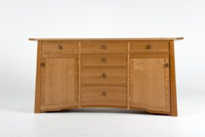 custom fine wood furniture cherry wine buffet credenza by Philip Morley at Austin school of furniture and design