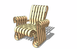 3d model of chair austin school of furniture and design by David Heim