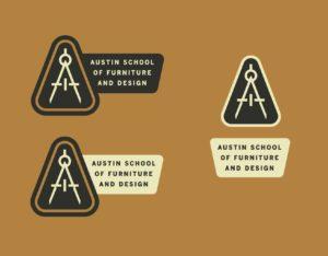 Furniture School main logo orange and tan Austin School of Furniture and Design