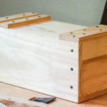 Wooden Japanese toolbox by Patrick Brennan on workbench