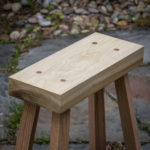 traditional wooden sawbench cut by hand