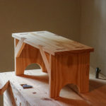 wooden shaker bench by Patrick Brennan Austin school of furniture and design