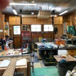 custom furniture maker's woodworking workshop