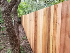 Vertical Wood Fence Austin, TX