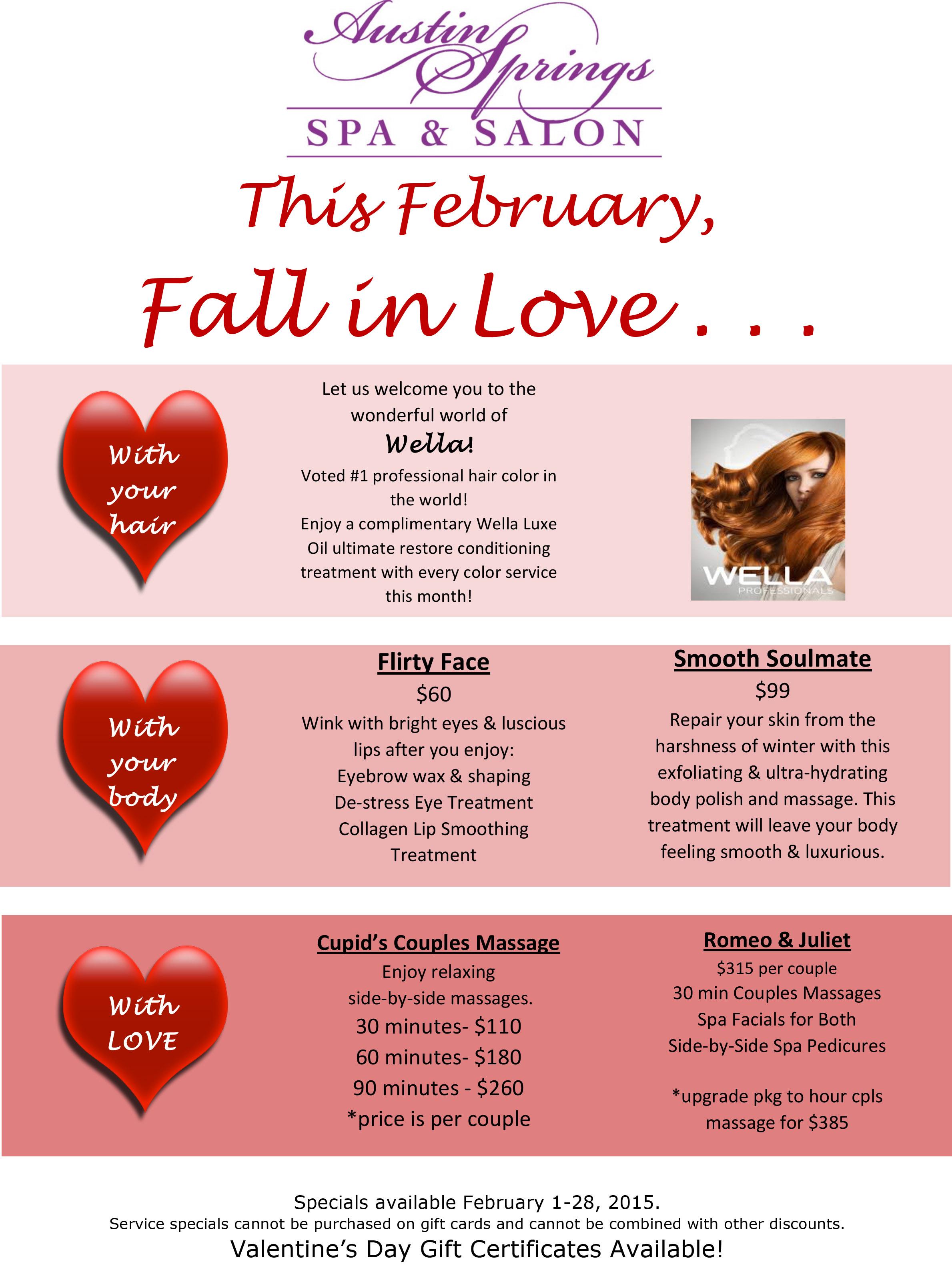 Microsoft Word February2015Specials 1docx Austin