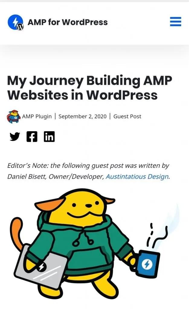My Journey Building AMP Websites in WordPress