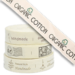 """Printed Cotton Tapes<br><p style=""""font-size: 11px;"""">The tape is printed with your name<br> or brand logo.</p>"""