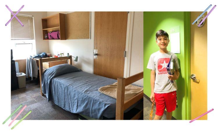 Dorm room at a CTY summer camp