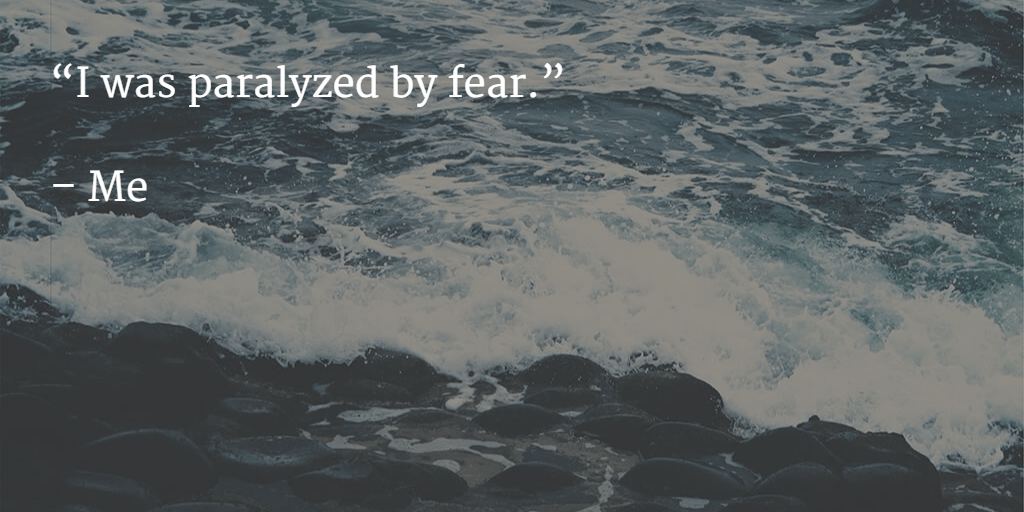 I was paralyzed by fear