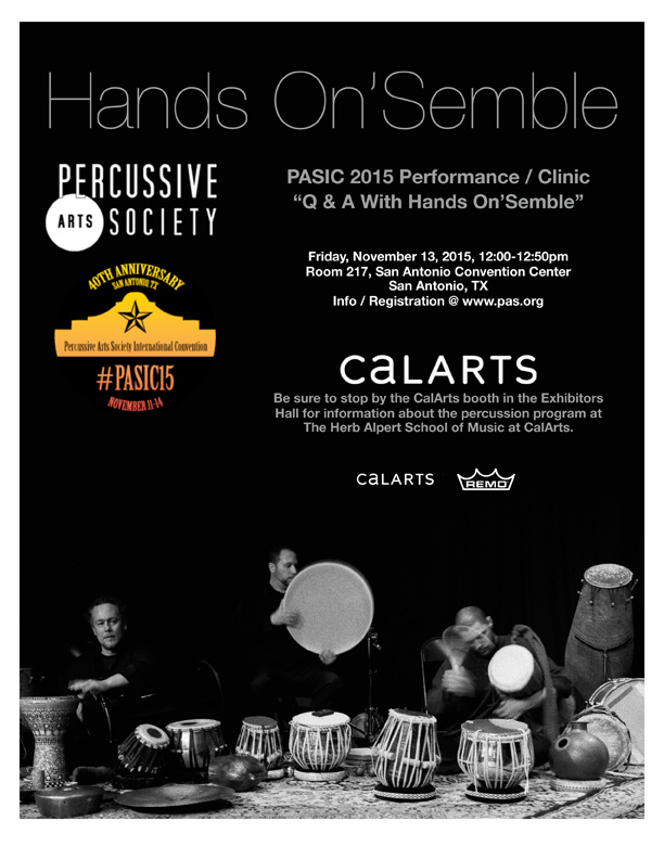 hands on'semble PASIC 2015 flyer