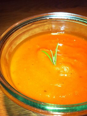 Geröstete Kürbissuppe