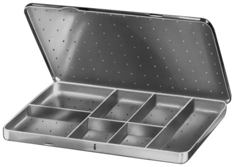 AE-BL941R, NEEDLE CASE with 7 compartments 150 x 90 x 10 mm