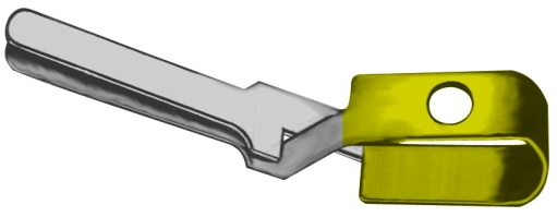 AE-FD558R, MEHDORN VESSEL CLIP TEMPORARY, JAW OPENING 6MM, JAW LENGTH 1,4MM, CLOSING FORCE 15 G - 20 G