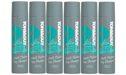 $19.95 for a Six Pack of Toni & Guy Matt Texture Dry Shampoo 250ml (Don't Pay $92.94)