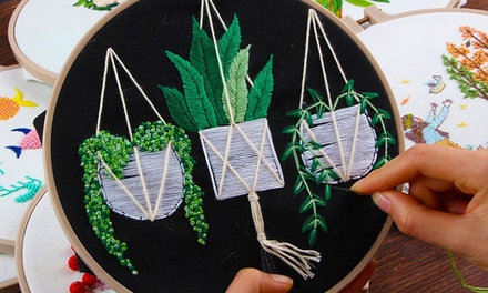 DIY Cross Stitch Embroidery Starter Kit Set for Beginners: One ($15) or Two ($25)