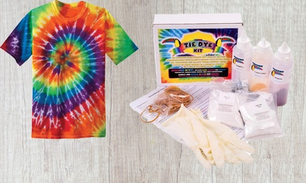 From $25 for a DIY Tie Dye Kit Set with Optional Two T Shirts (Don't Pay up to $64.95)