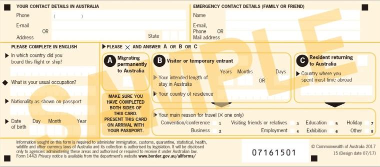 澳洲入境卡填寫教學、入進禁帶違禁品一覽,中藥西藥可以帶嗎?那些東西入境要申報?3