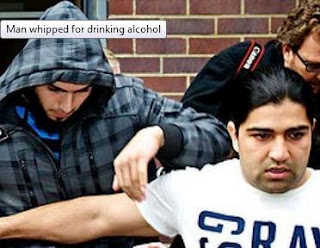 Man whipped for drinking alcohol in Australia