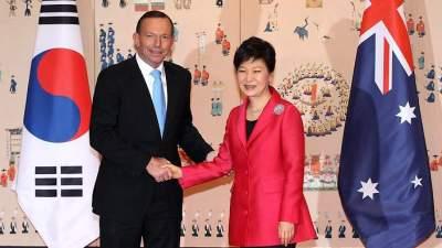 Australian Prime Minister Tony Abbott visits South Korea