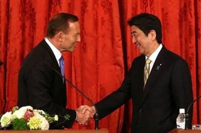 Abbott bows to Abe