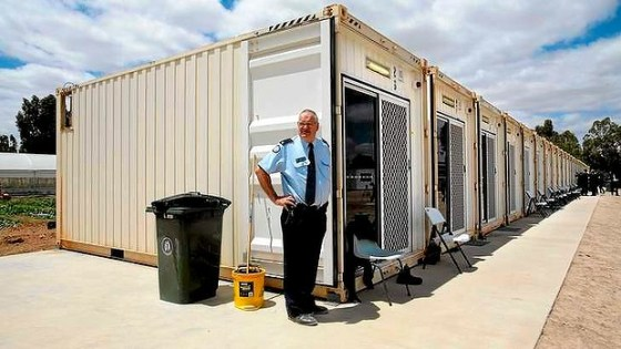 Australia prisoners in shipping containers