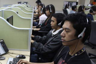 Call center worker, Stellar Philippines.