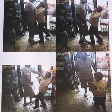 Michael Brown robs a convenience store