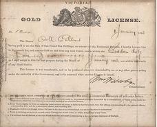Victoria Gold License 1853