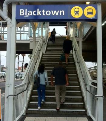 Blacktown train station.