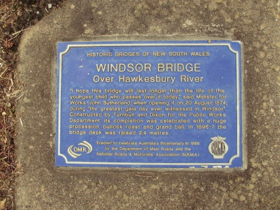 Old Windsor Bridge plaque
