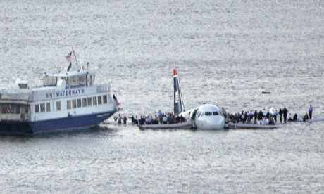 US Airways Flight 1549 on to the Hudson River