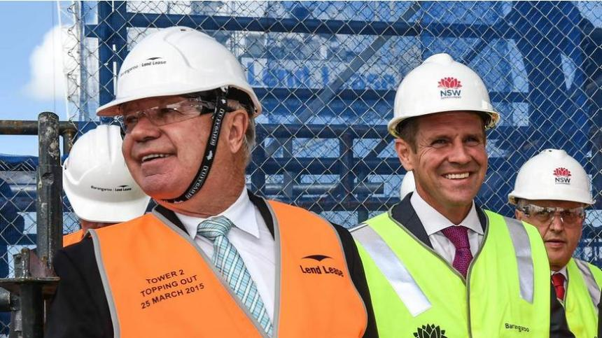 Mike Baird and Lend Lease in bed