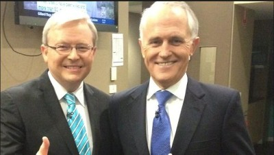 Malcolm Turnbull Labor's blue tie inside man