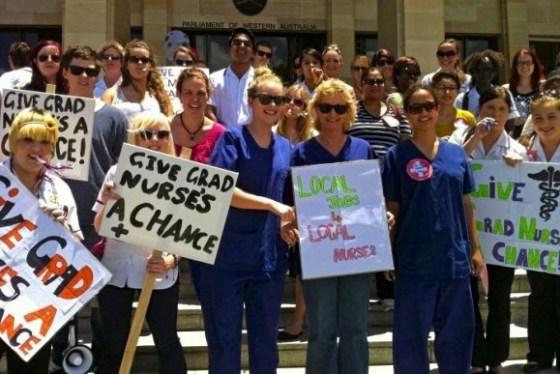 Australian qualified nurses can't get work in Australia