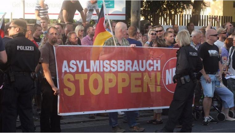 Germans protest over refugee camp for their city