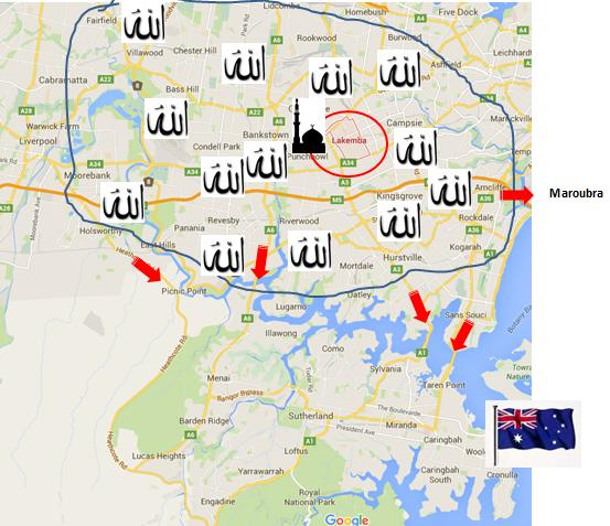Cronulla Riots Map