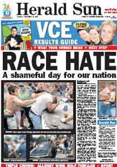 Herald Sun brands White Australians racist