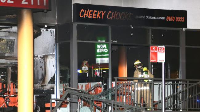 Suspicious Lebanese shop fire