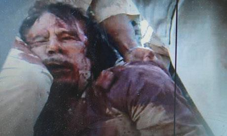Muammar Gaddafi butchered by Islamics