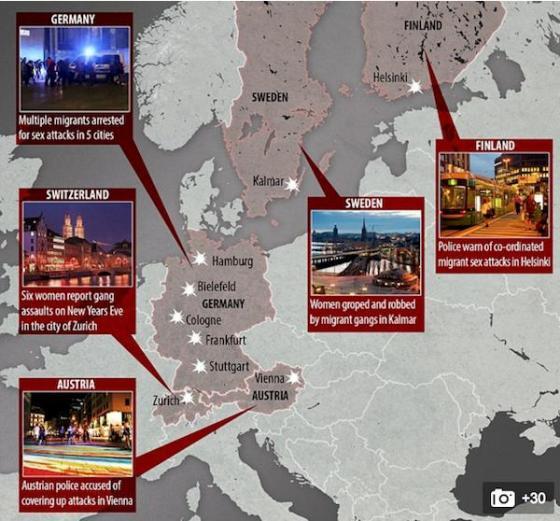 Rape Coverups by Multicultist Merkel