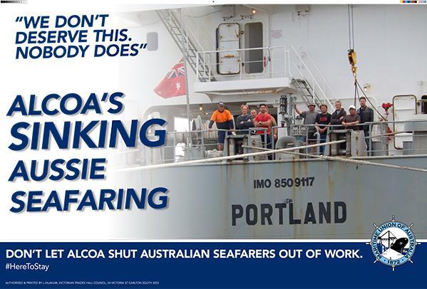 Alcoa sacks Australian seafarers