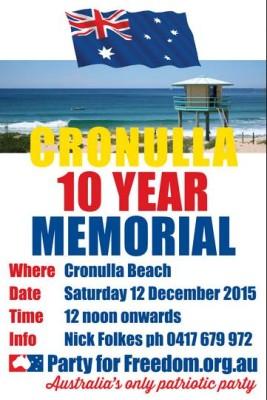 Cronulla Riots 10 Year Memorial