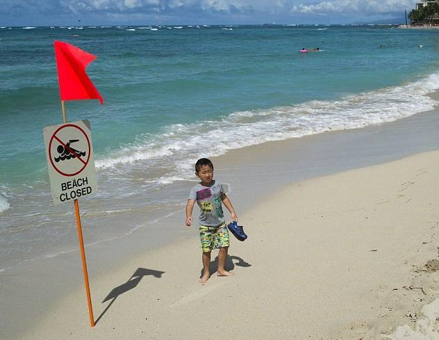 Beach Closed especially to ethnics