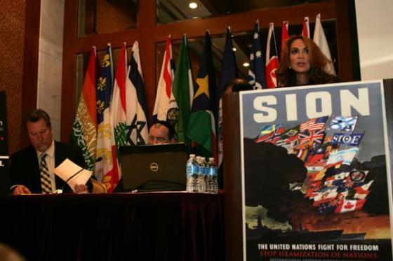Pamela Geller promoting SION