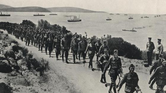 ANZACs departing Albany in 1914